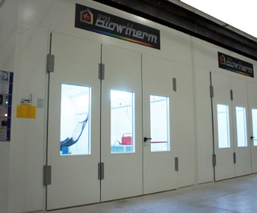 spray booths qty: 8